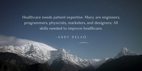 Healthcare needs patient expertise. Patients are the engineers, coders, marketers, and designers needed to solve our biggest challenges.