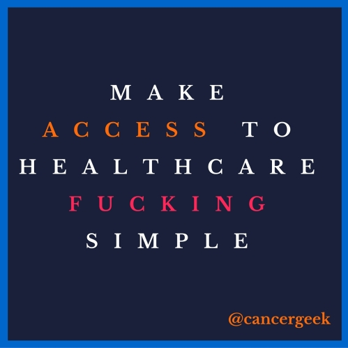 Make access to healthcare fucking easy